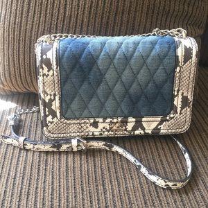 Denim & (faux) Snakeskin Handbag